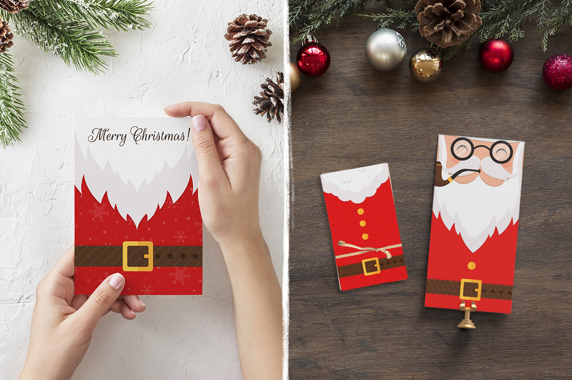 Santa Claus tags and cards example image 8