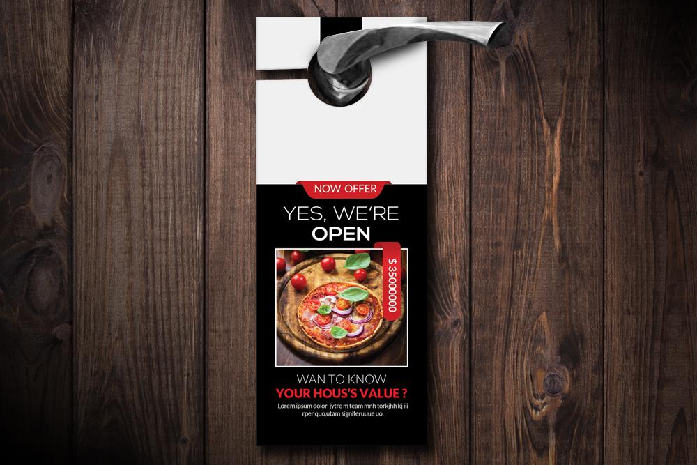 Pizza Resturant Door Hangers example image 1