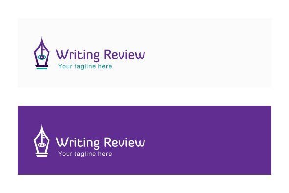 Writing Review - Stock Logo Template example image 2