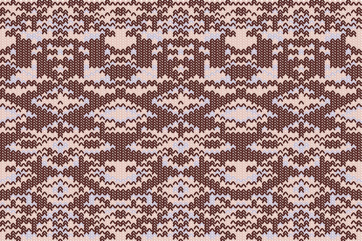 Christmas wool seamless pattern set. example image 2