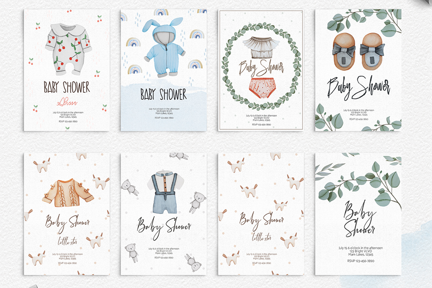 Baby Boom watercolor collection example image 8