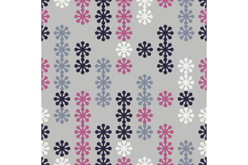 Set of 12 seamless backgrounds with decorative snowflakes.  example image 9