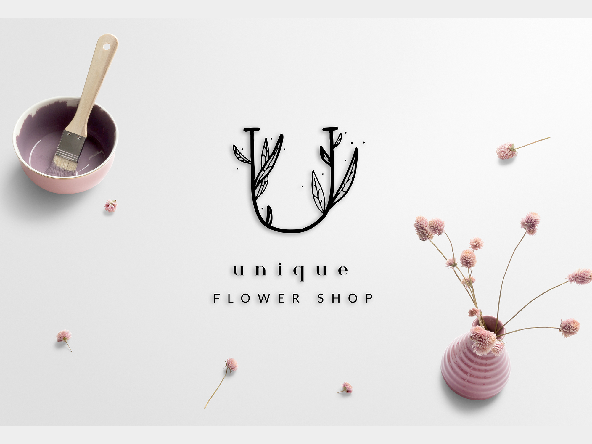 MINIMAL FLORAL LETTER AND LOGO KIT example image 12