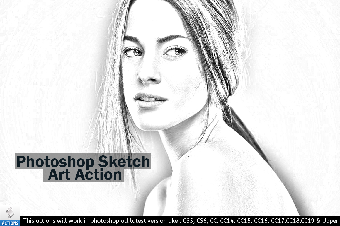 Photoshop Sketch Art Action example image 2