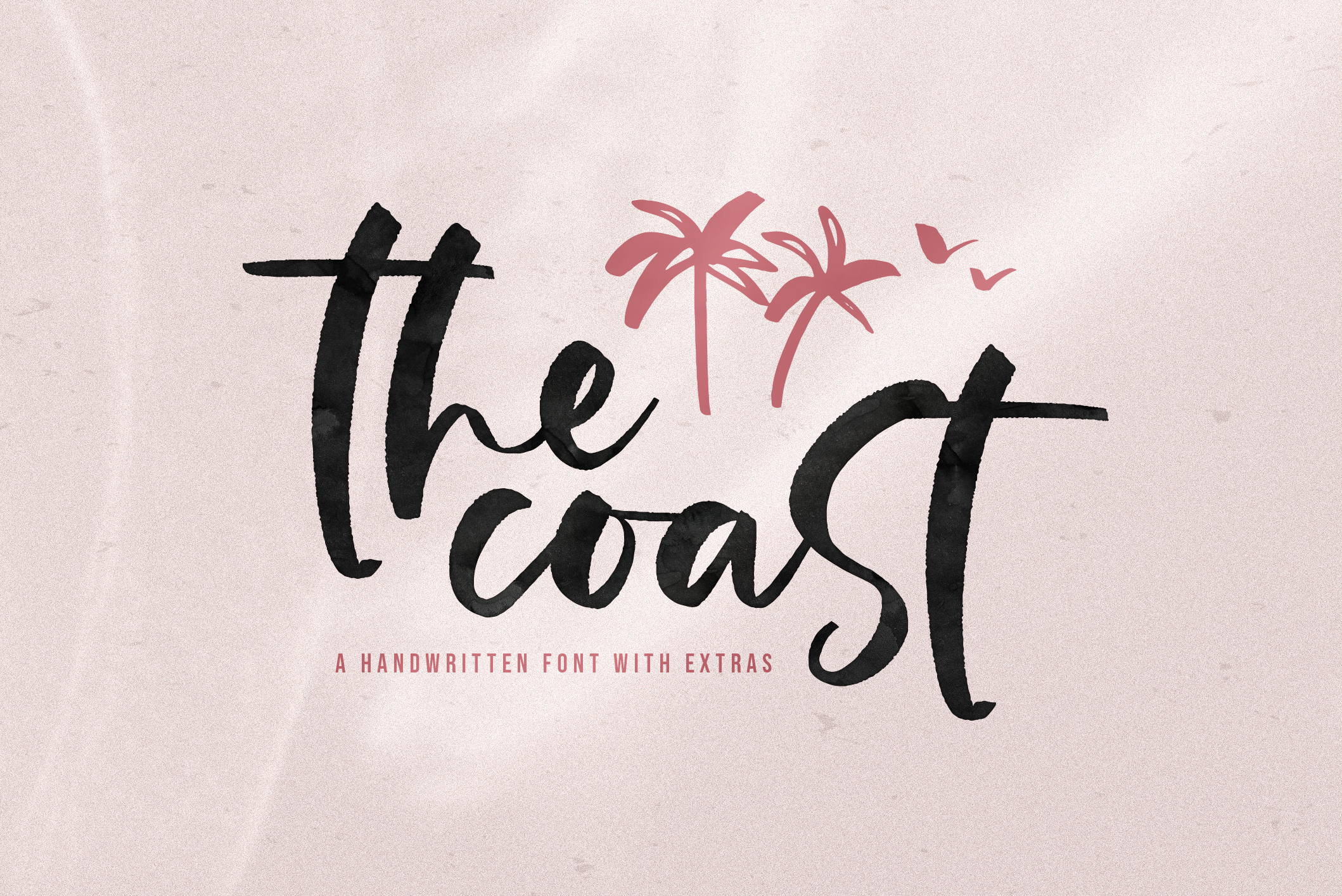The Coast - Handwritten Script Font with Extras example image 1
