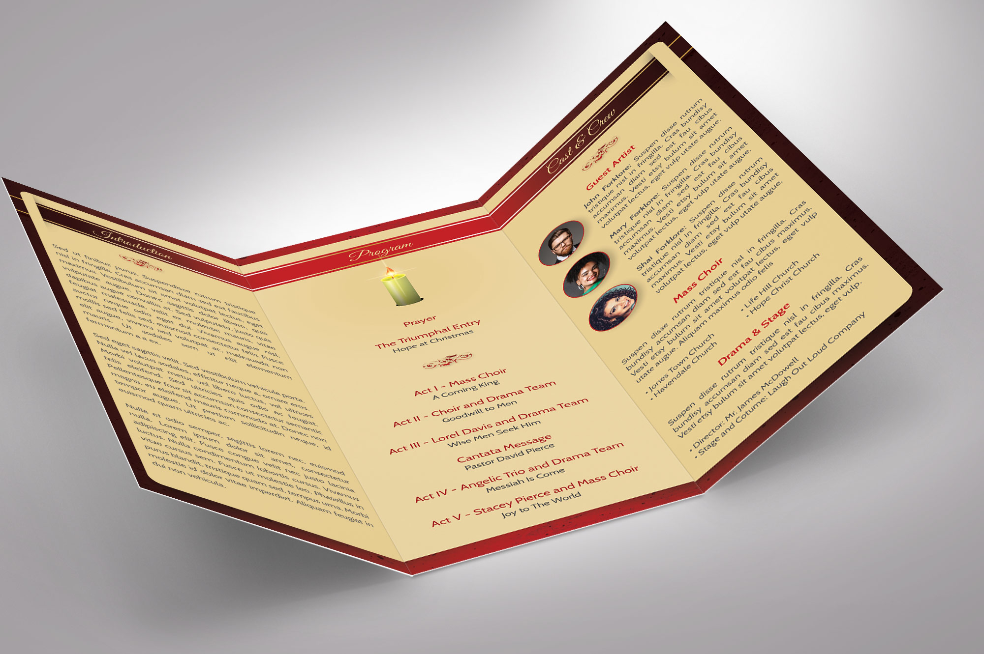 Candle Light Tri-fold Brochure example image 4