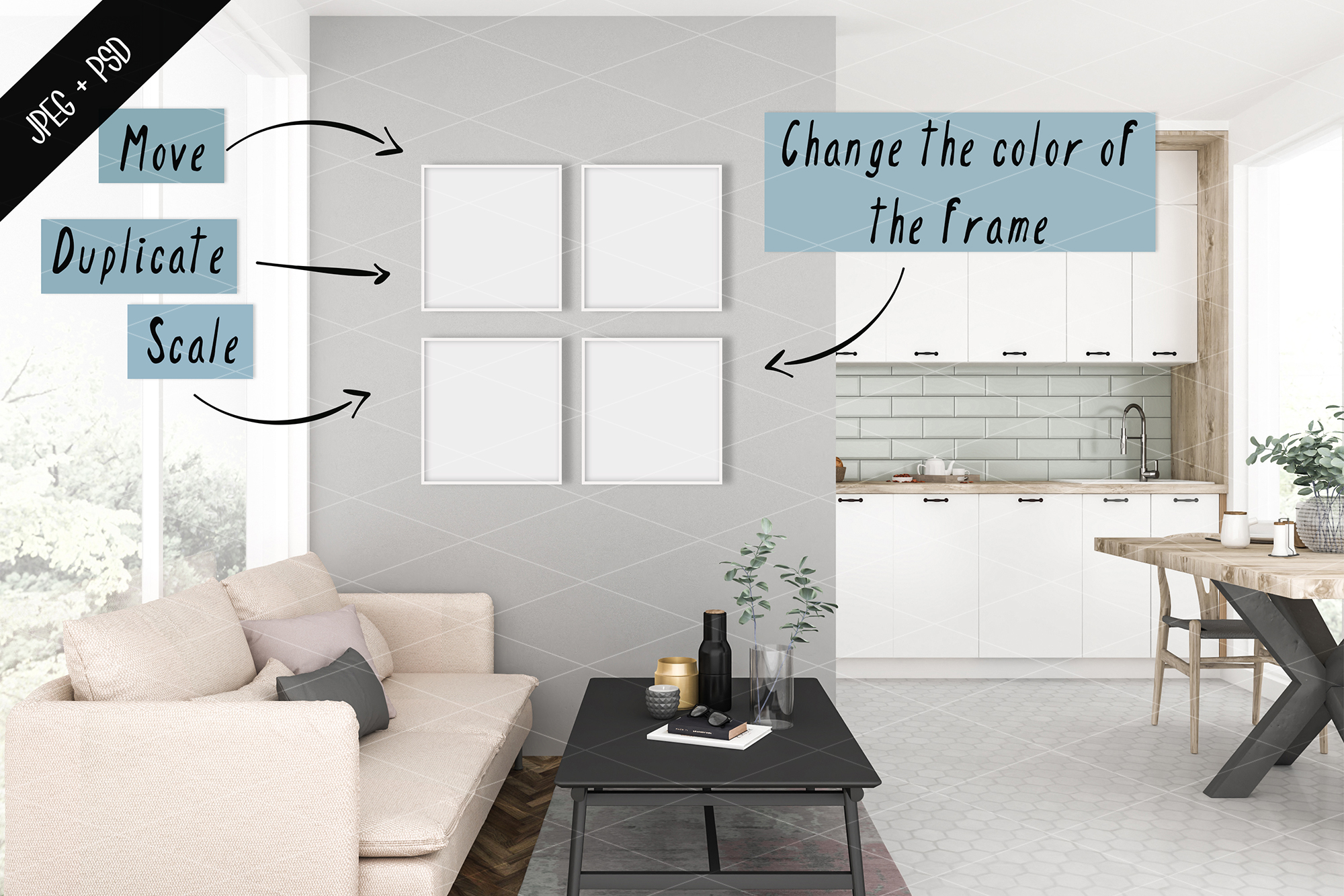 Frame mockup creator - All image size - Interior mockup example image 3