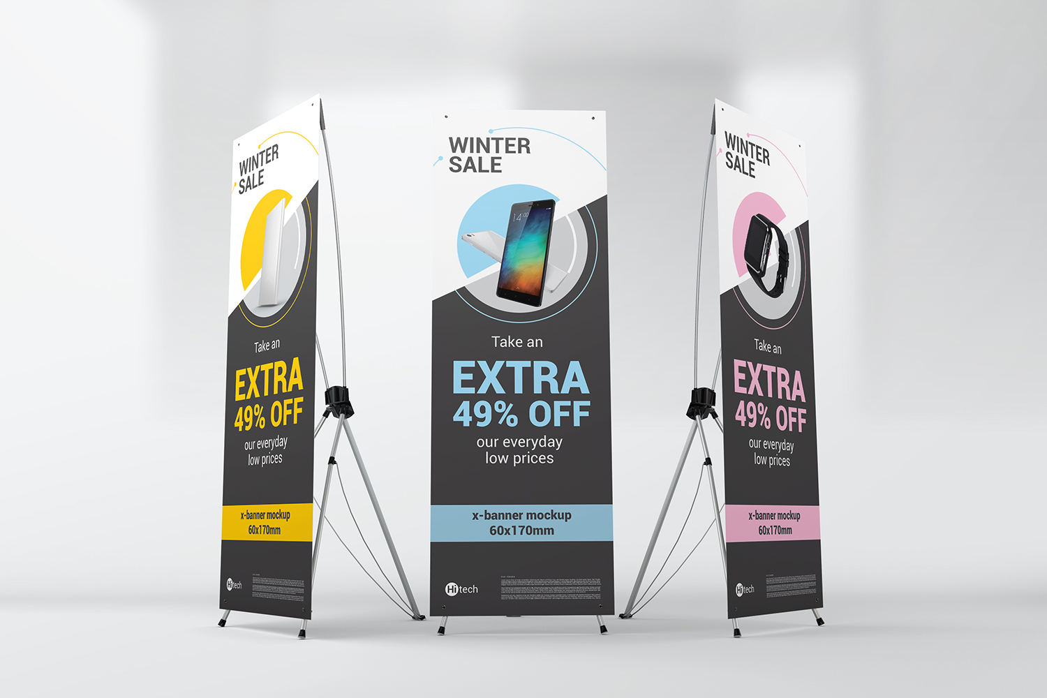X-Stand Banner Mockups example image 6