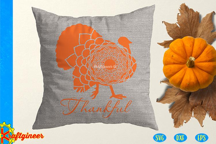 Mandala Turkey SVG | Single Line SVG |Foil Quill example image 4