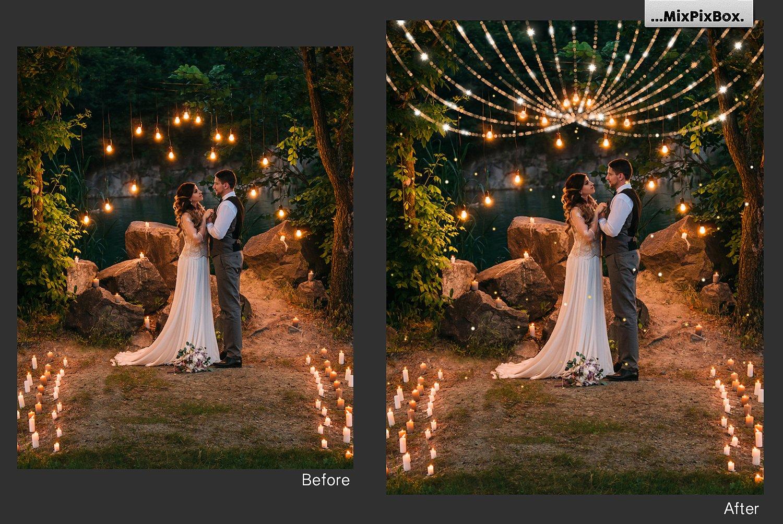 Christmas Lights Golden Glow example image 6