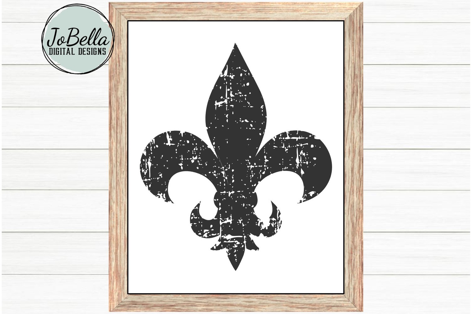 Distressed Fleur De Lis SVG and Printable example image 1