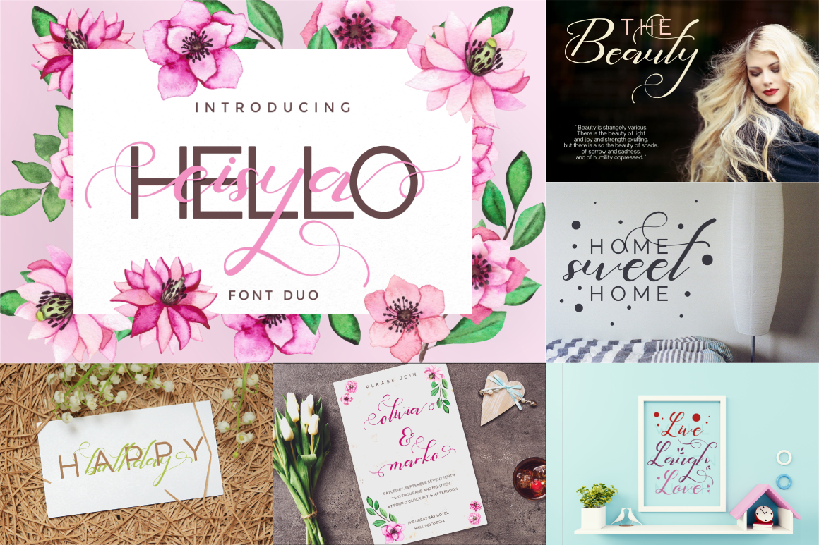 Best Crafting Font Bundles! 126 Fonts ! example image 21
