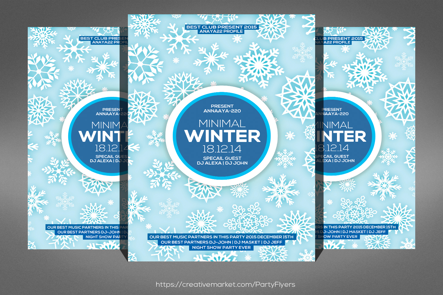 Minimal Winter Party Flyer example image 1