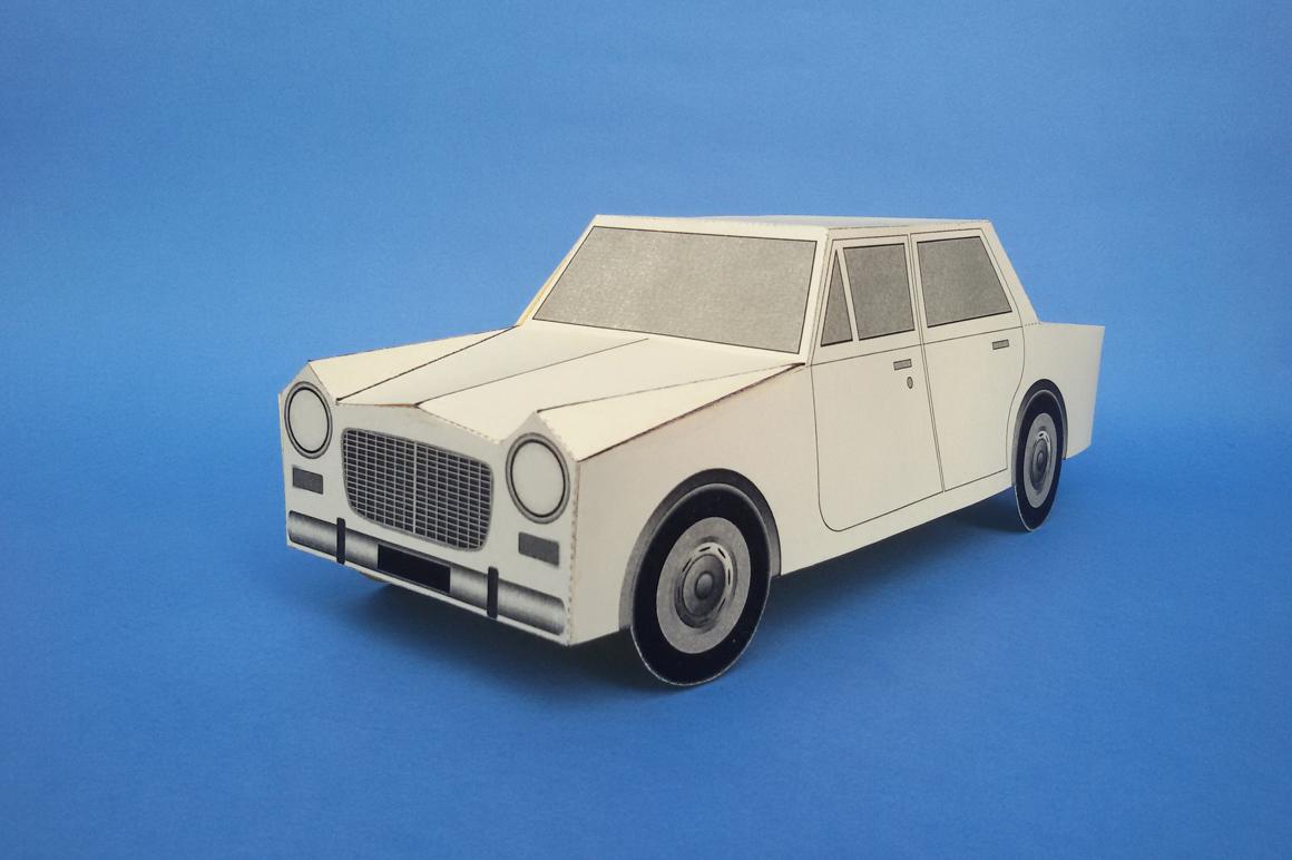 DIY Paper Car - 3d papercraft example image 1