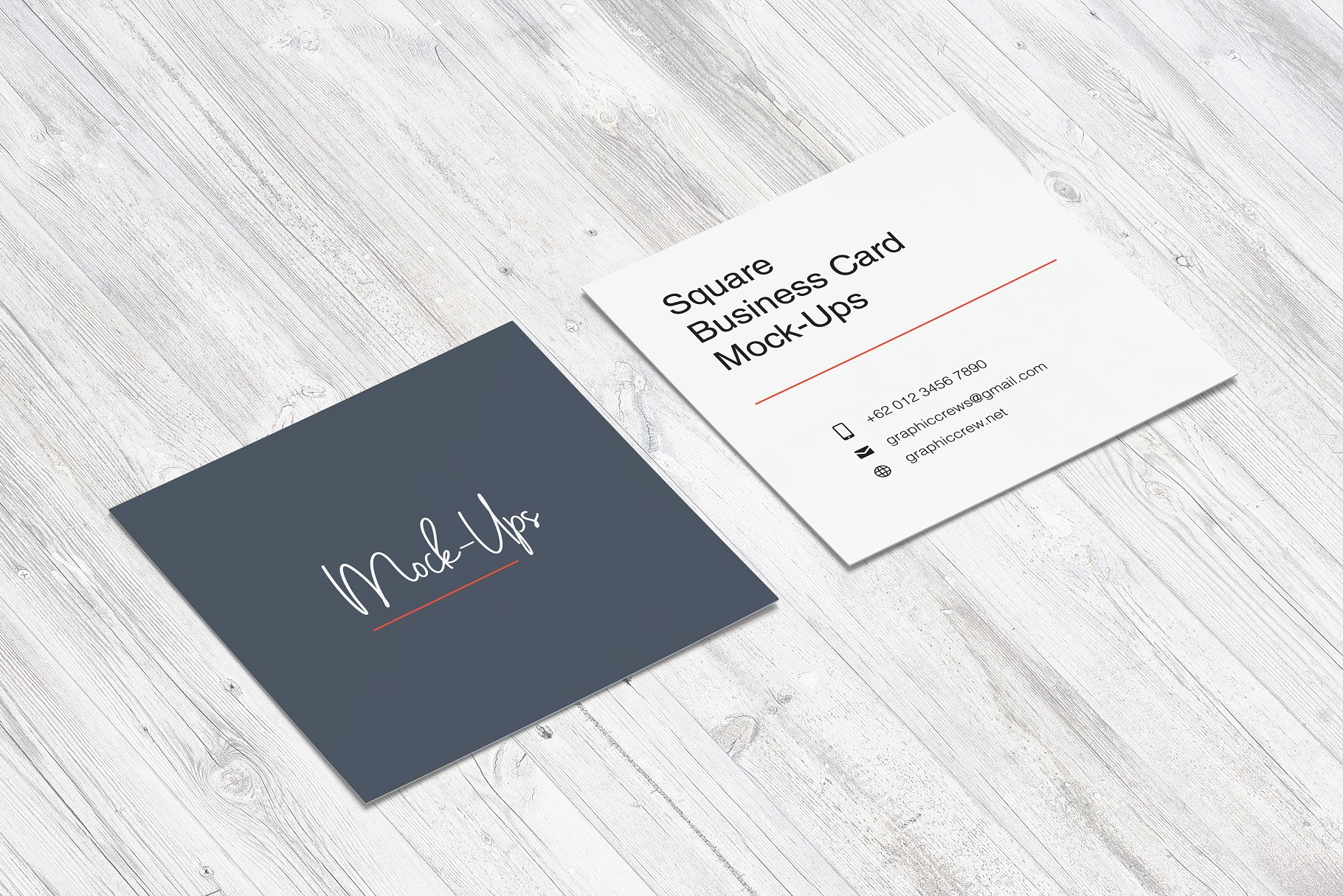 Square Business Card Mockup example image 3
