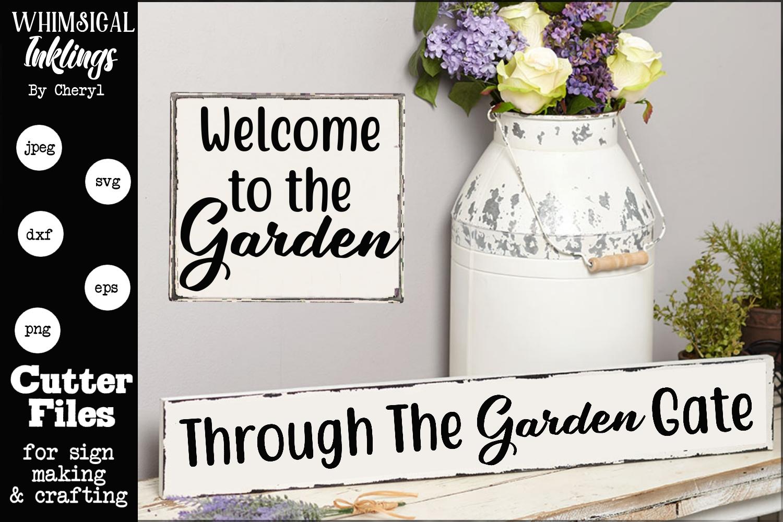 Through The Garden Gate SVG Set example image 1