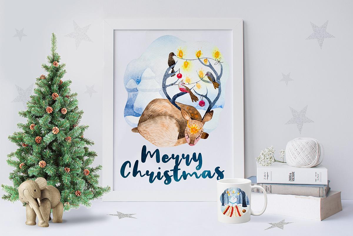Magic animals.Merry Christmas example image 2