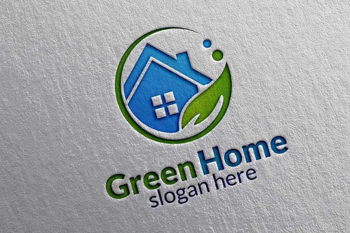real estate logo green home logo 11