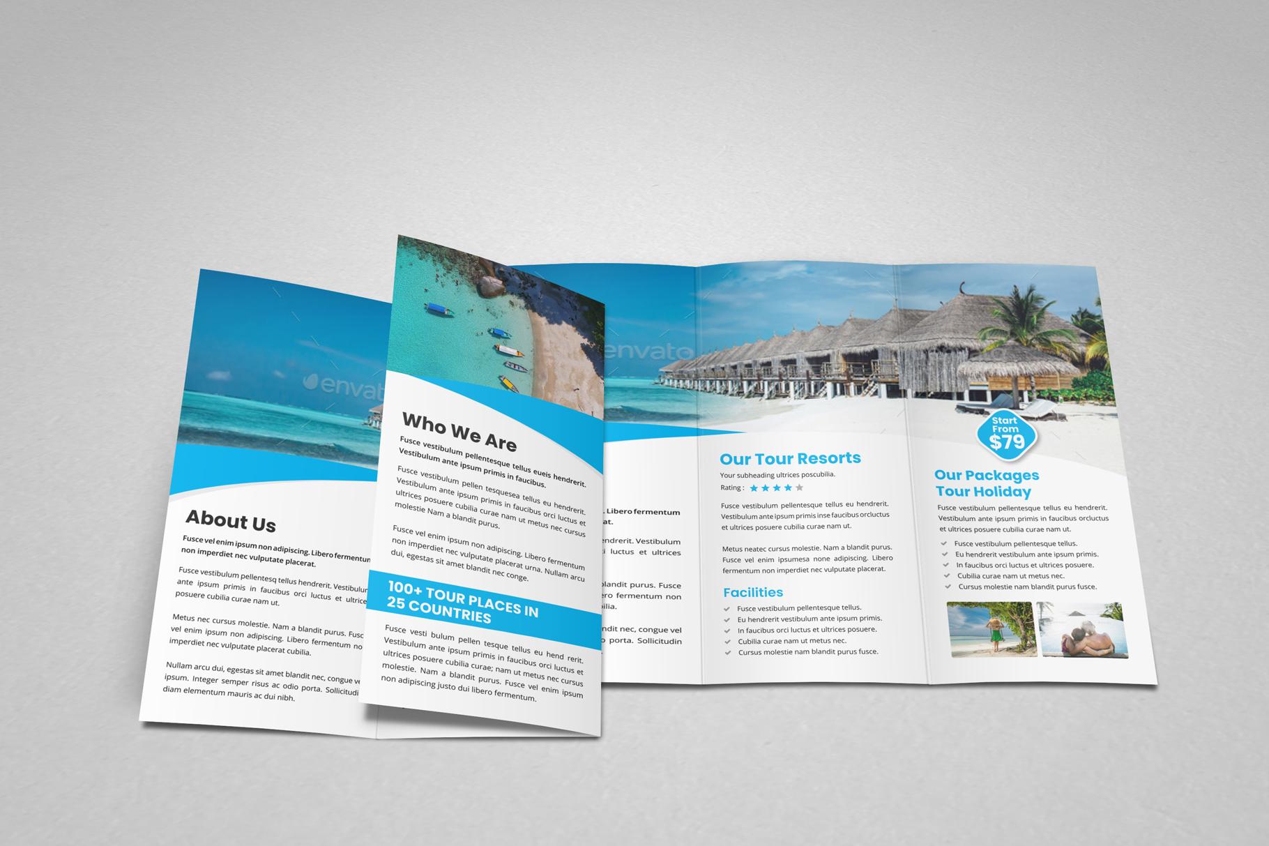 Travel Resort Trifold Brochure v3 example image 12