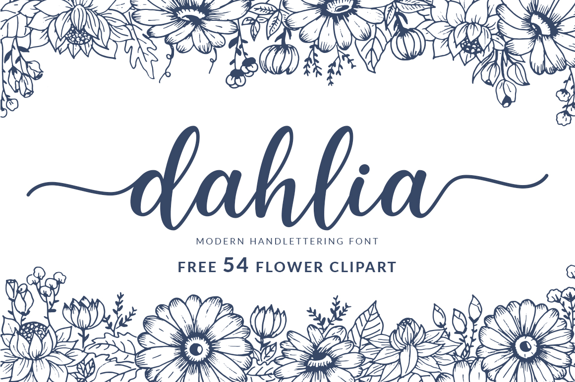 Dahlia Handlettering Font example image 1