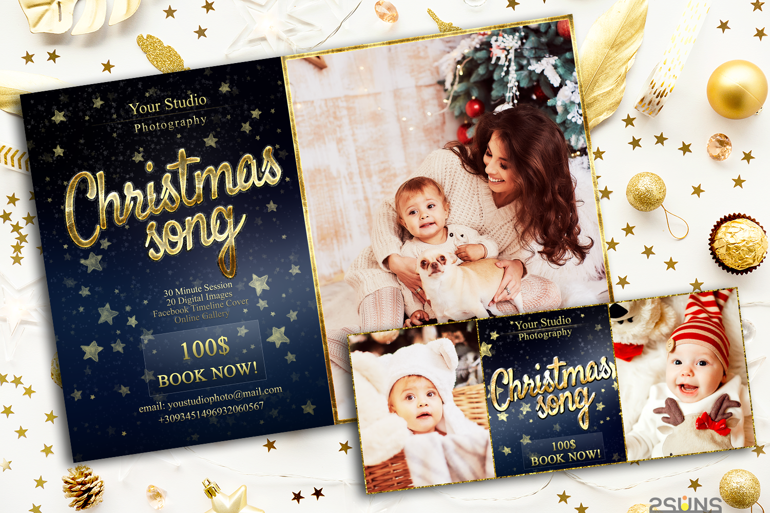 Christmas Mini Session Template Facebook timeline example image 2