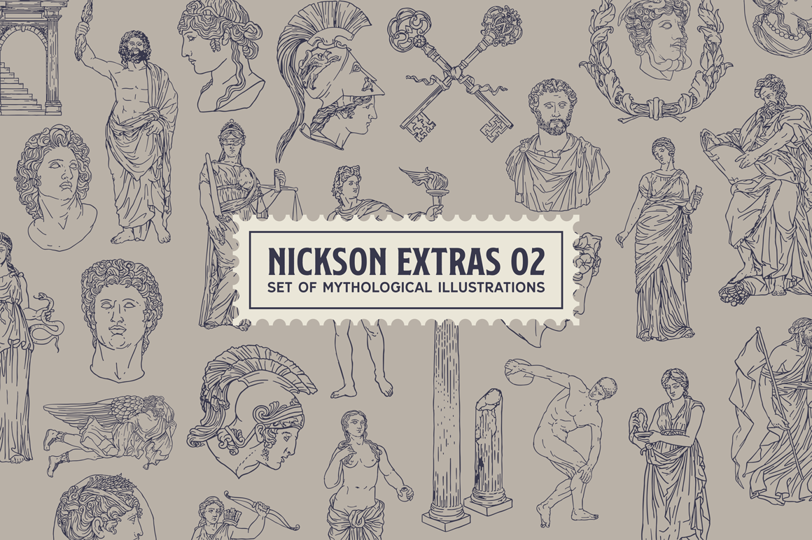 S&S Nickson Font Bundles  example image 3