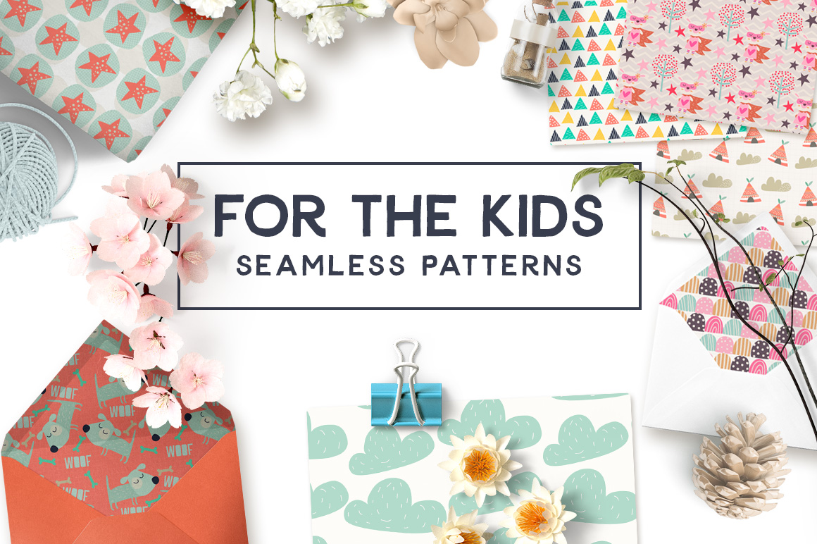 For the Kids Seamless Patterns example image 1