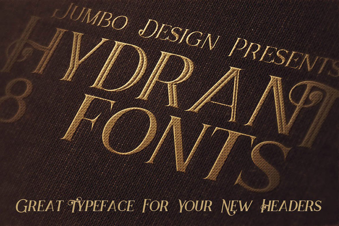 Hydrant - Vintage Style Font example image 5