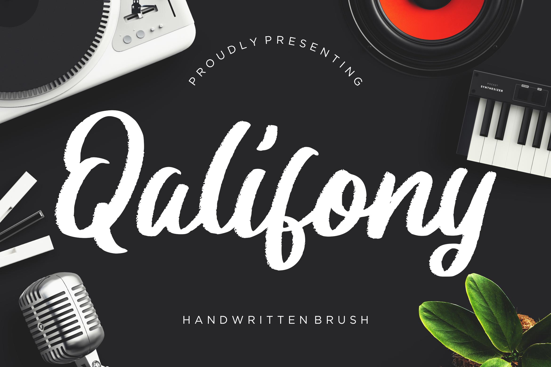 Qalifony Handwritten Brush example image 1