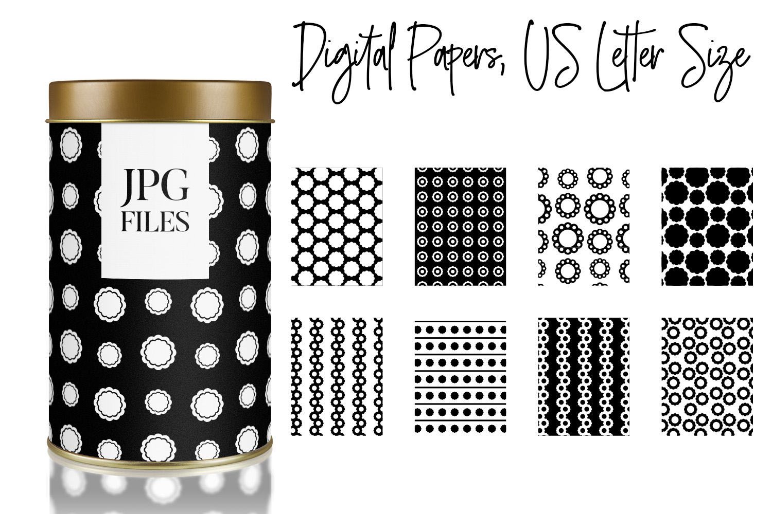 Digital Papers Bundle Vol. 2 - Background Patterns example image 8