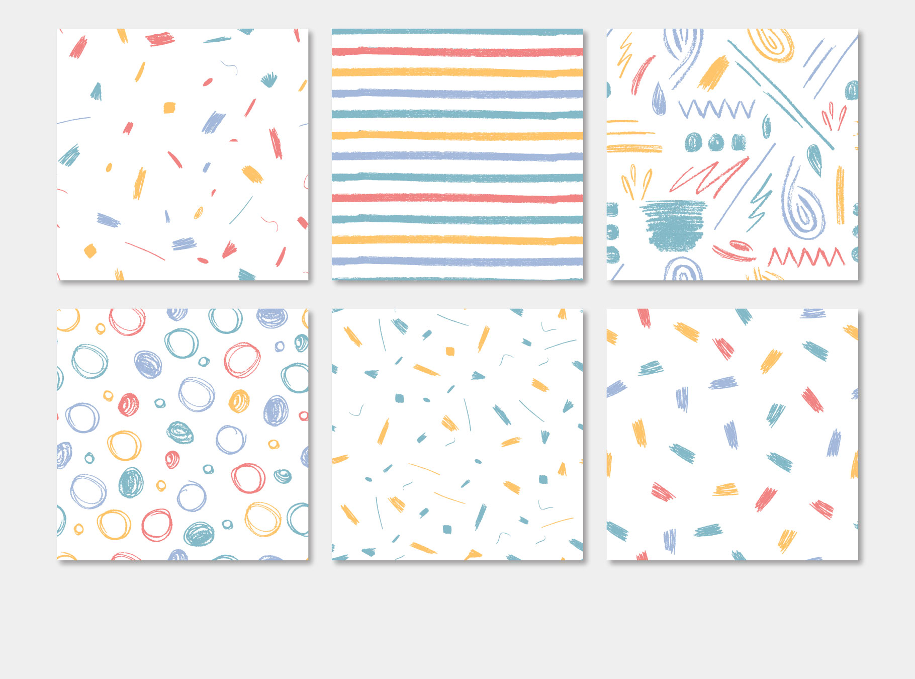 Pensil Confetti Patterns & Elements example image 8