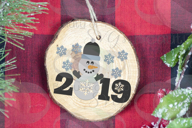 Christmas Snowman Ornament svg, Snowman 2019 svg Snowman svg example image 3