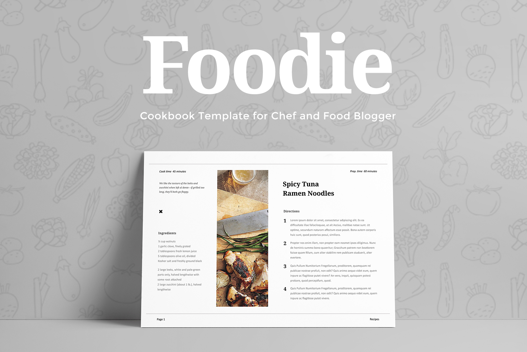 Foodie - Cookbook Template example image 5