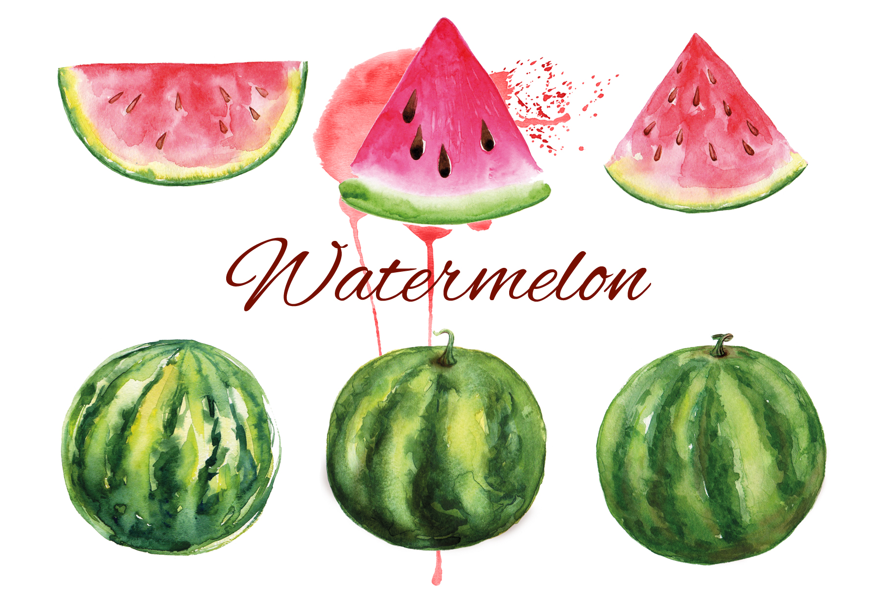 Fruits watercolor collection example image 6