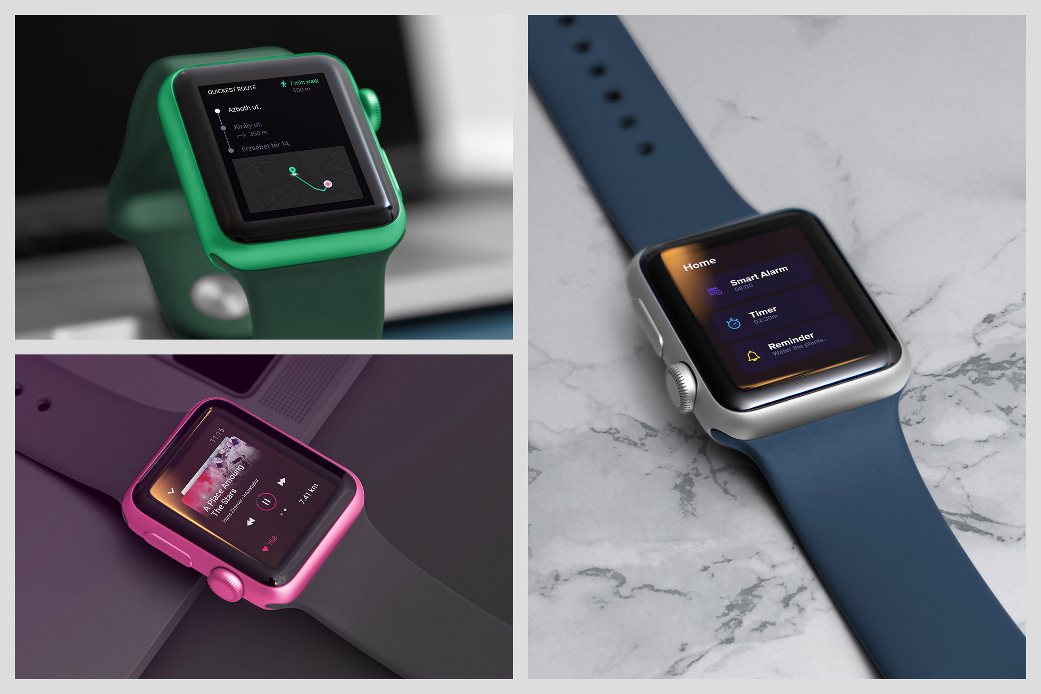 Realistic Smart Watch Mockups example image 7