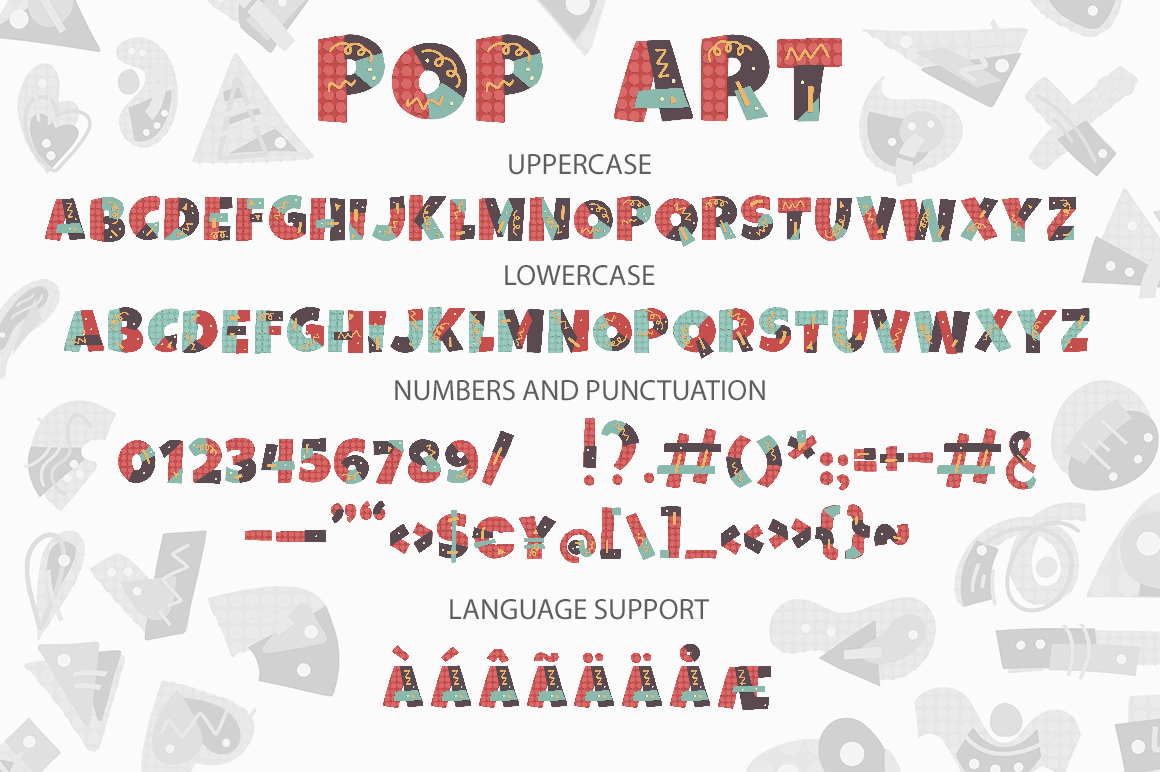 POP ART. SVG font collection. example image 4