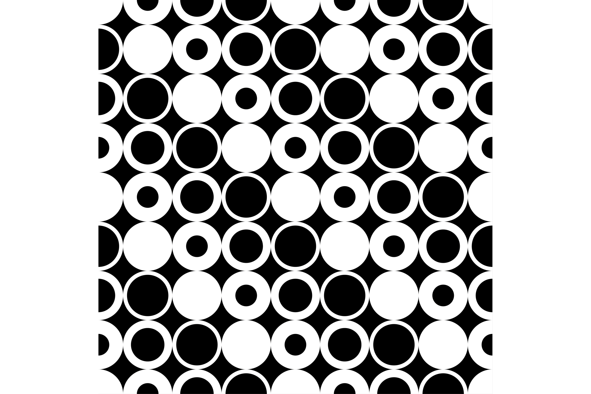 Seamless vector decorative background with circles, rings and polka dots. Print. Cloth design, wallpaper. example image 1