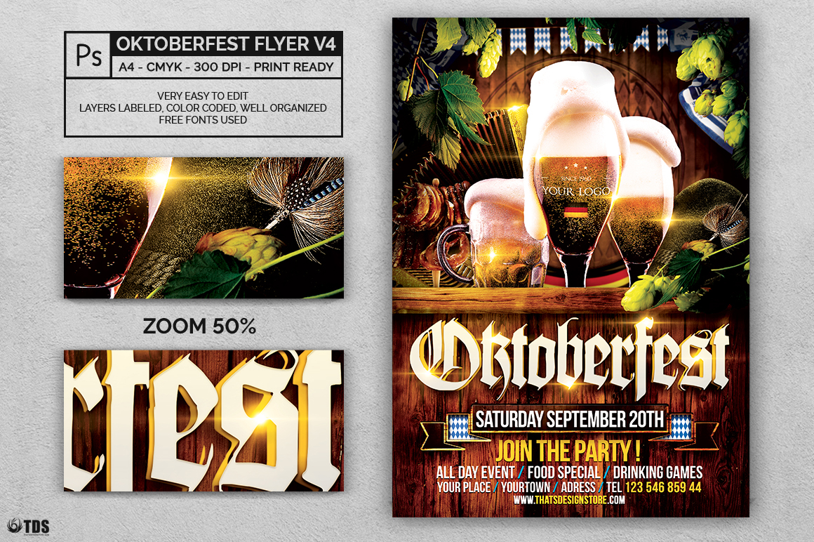 Oktoberfest Flyer Template V4 Example Image 2