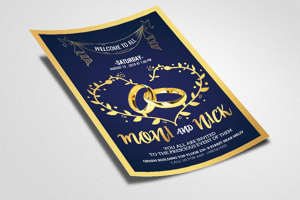 Wedding Invitation Flyer Template example image 2