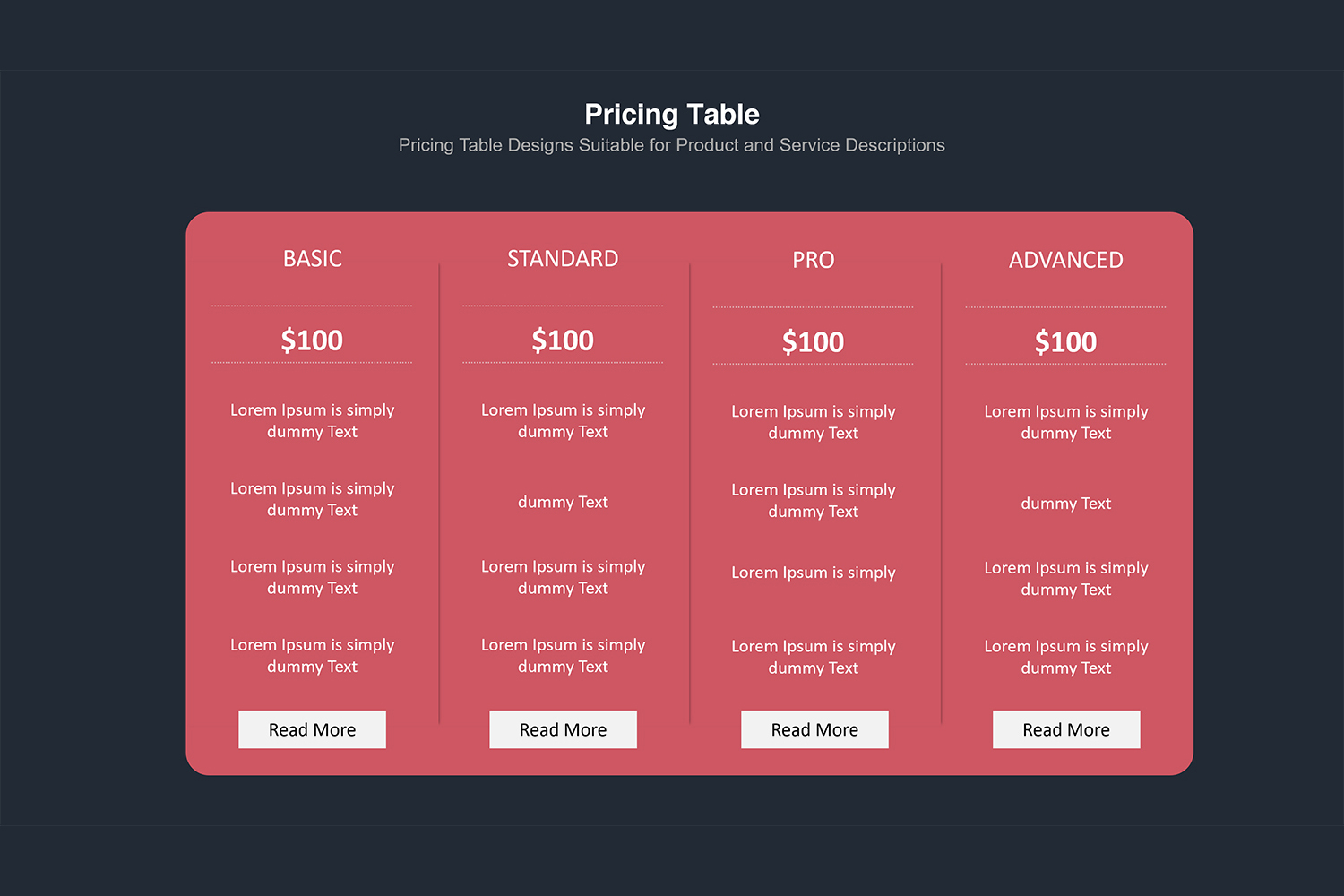 Price Table  Infographic Presentation example image 10