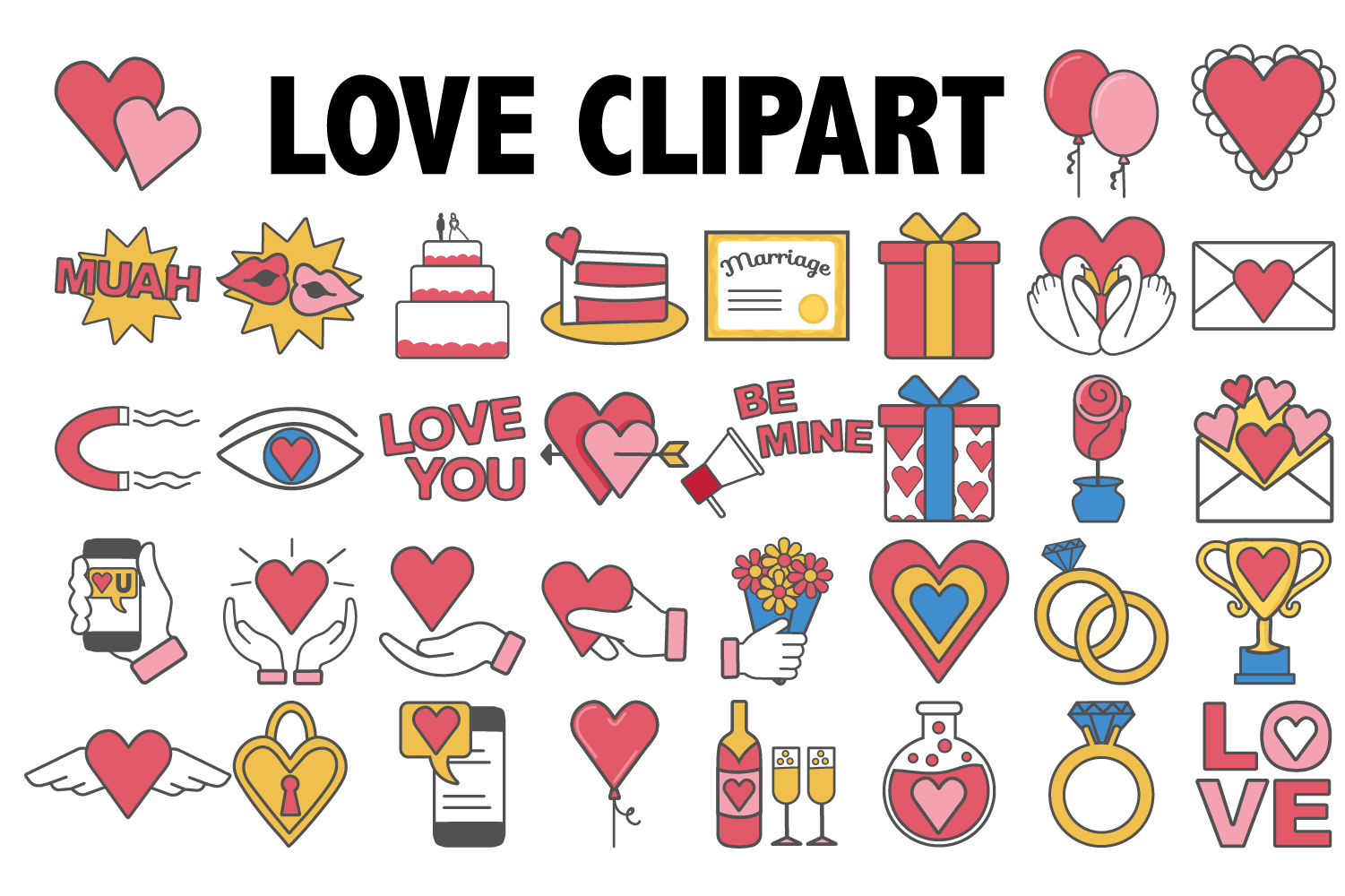 Love and Marriage Clipart example image 1