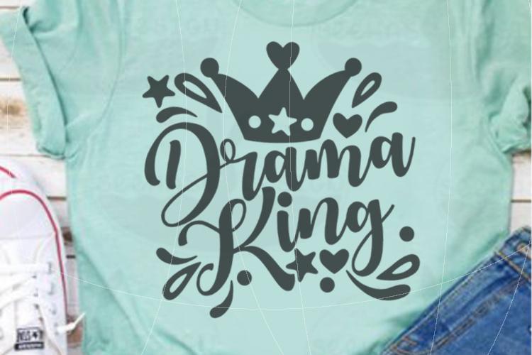 File Drama King for Cutting Lasercut Print SVG PDF EPS example image 4