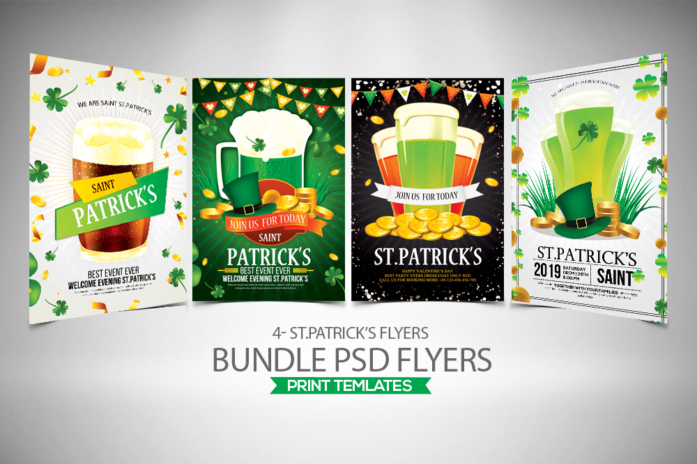 4 St. Patrick's Day Flyers Bundle example image 1