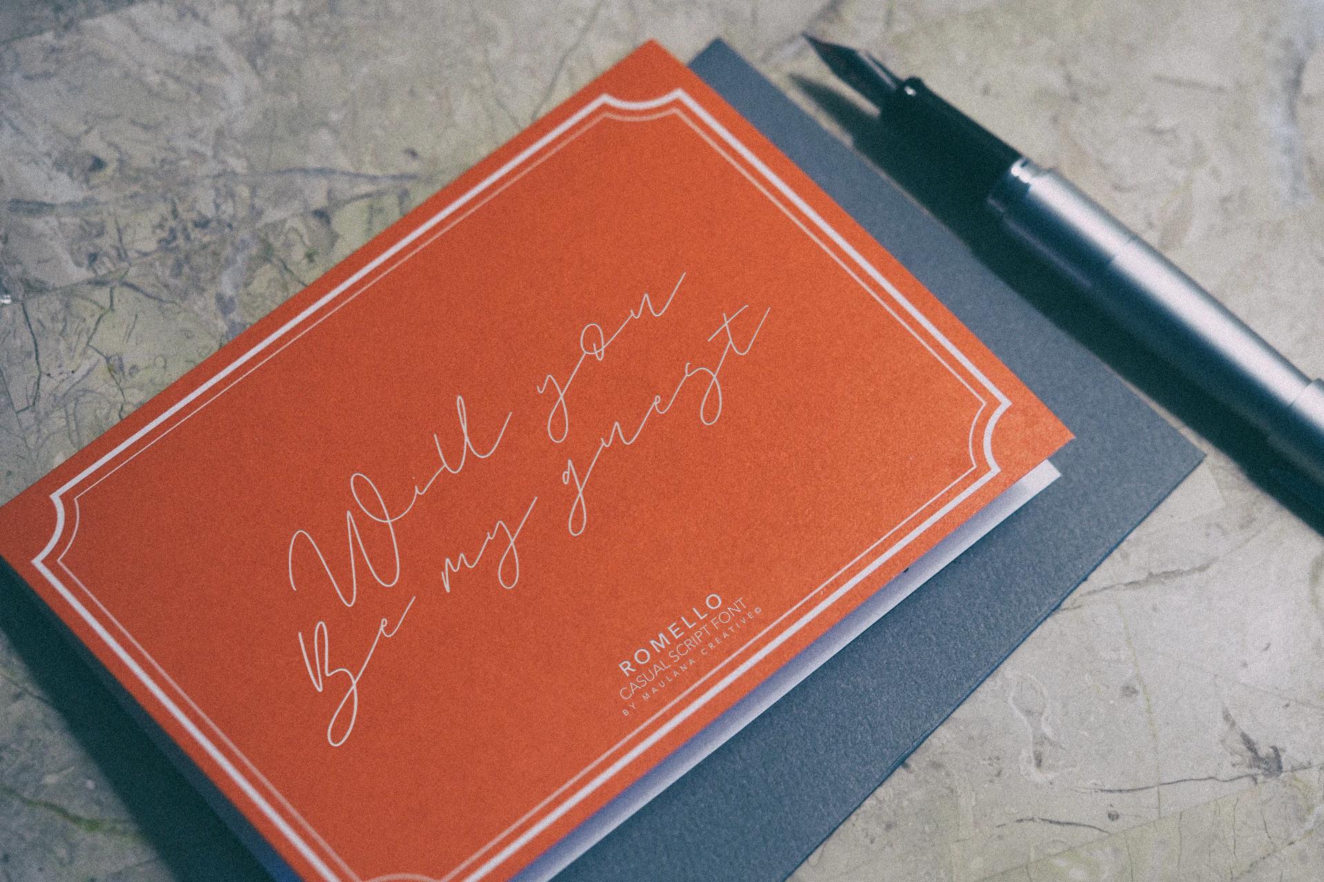 Romello Brush Signature Font example image 8