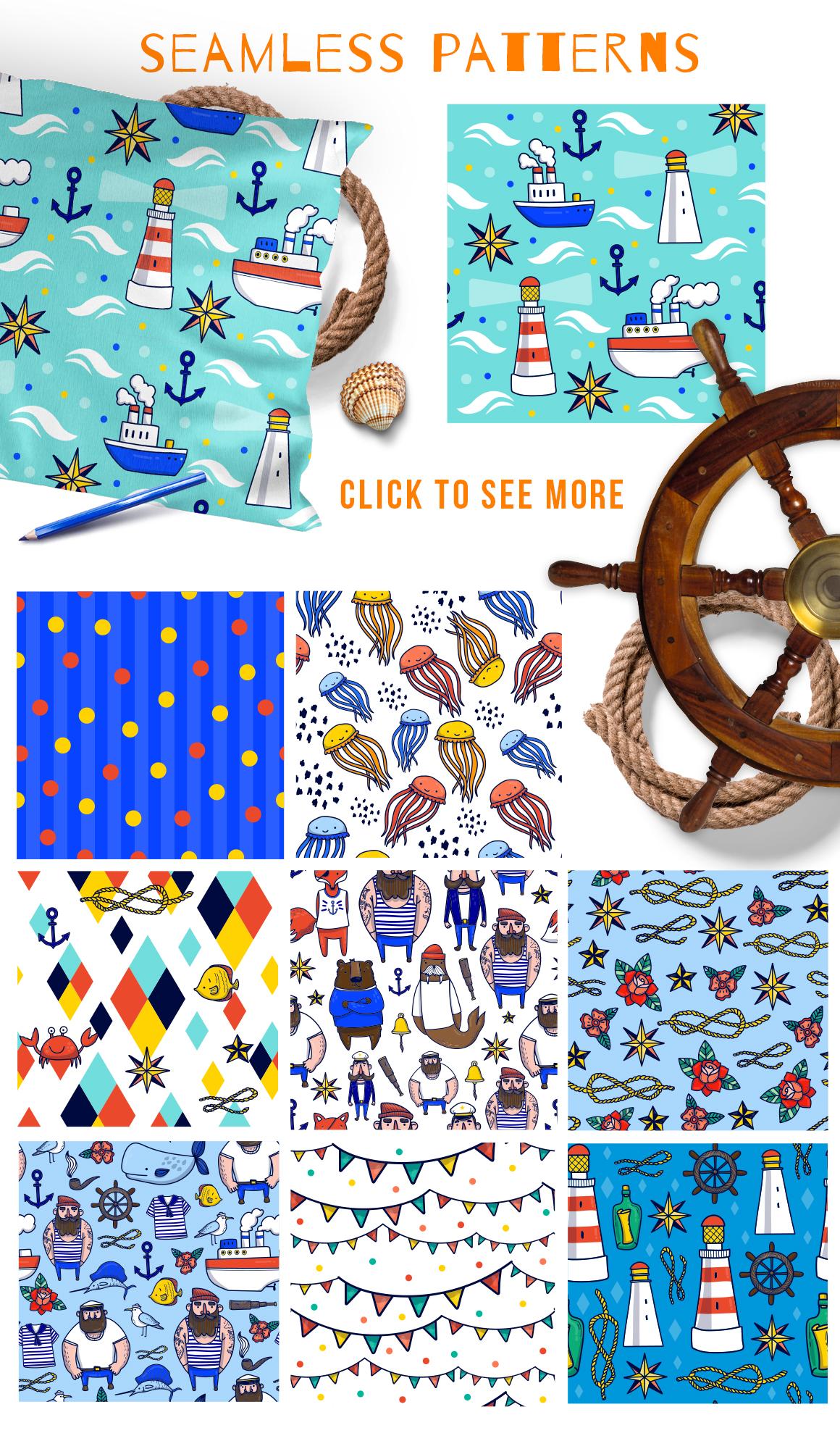 Sailor - nautical vector kit example image 4