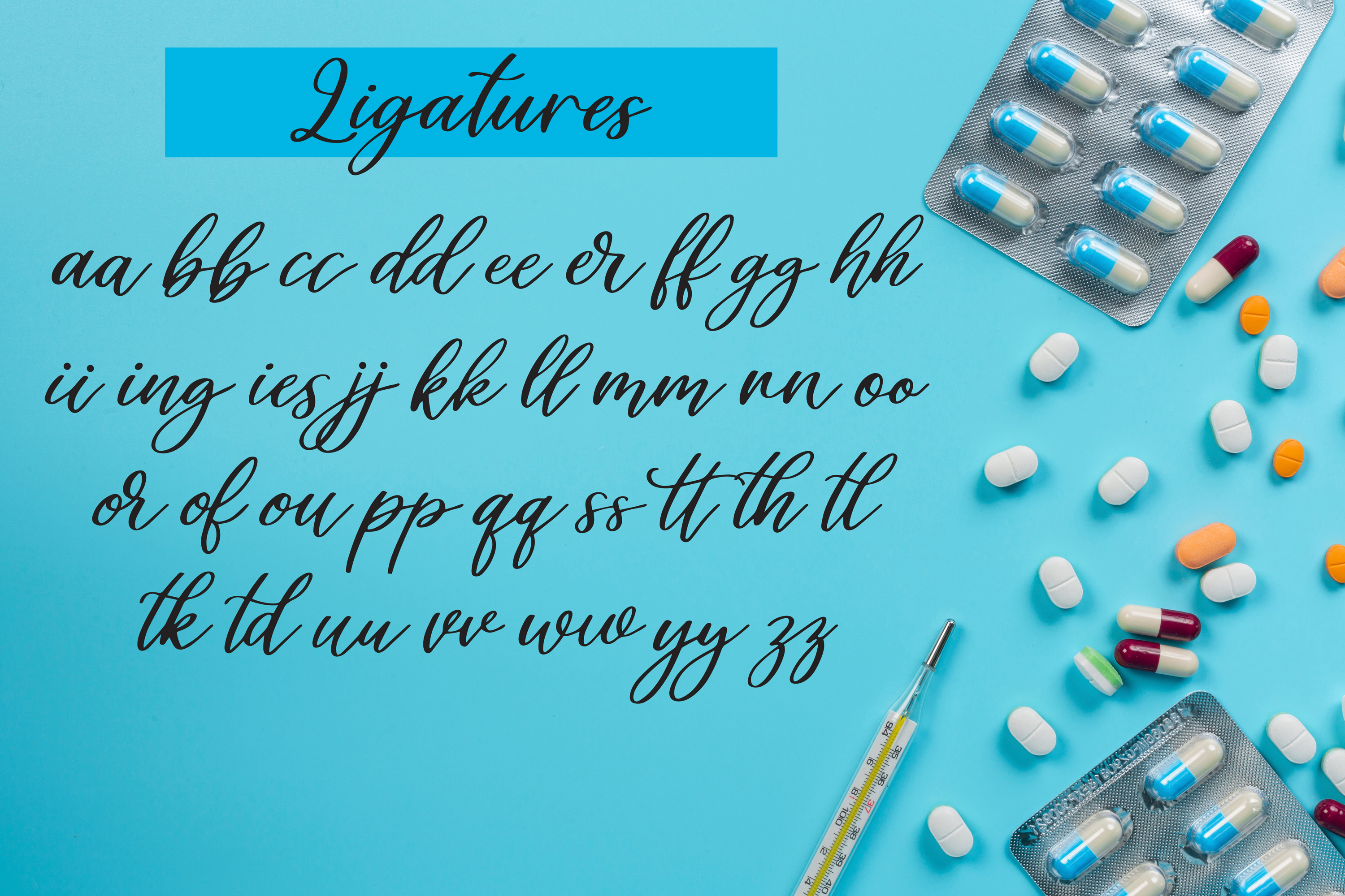 Healers - A script font to celebrate our nurses and doctors example image 3