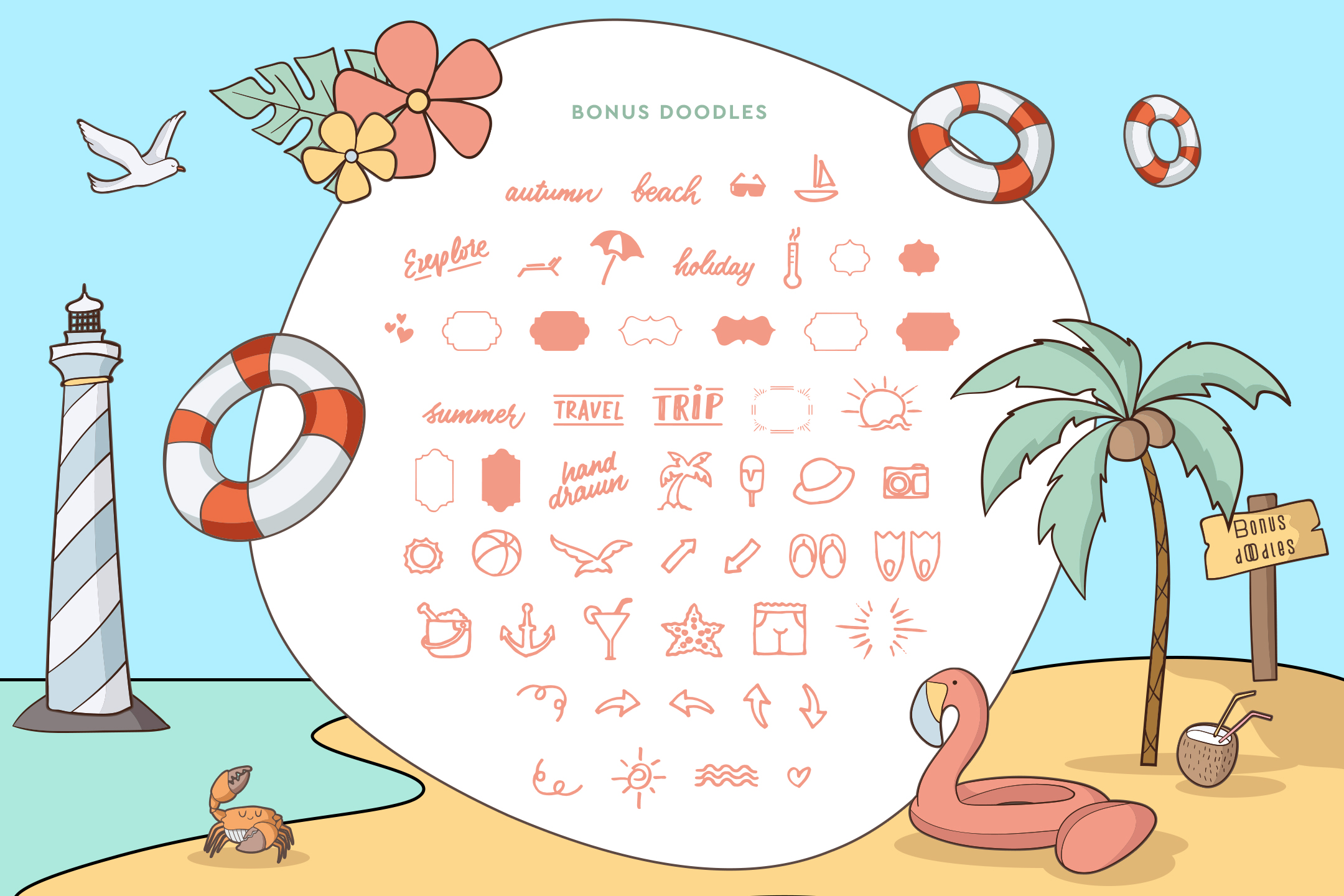 Beach Buoy + Bonus Illustrations example image 5