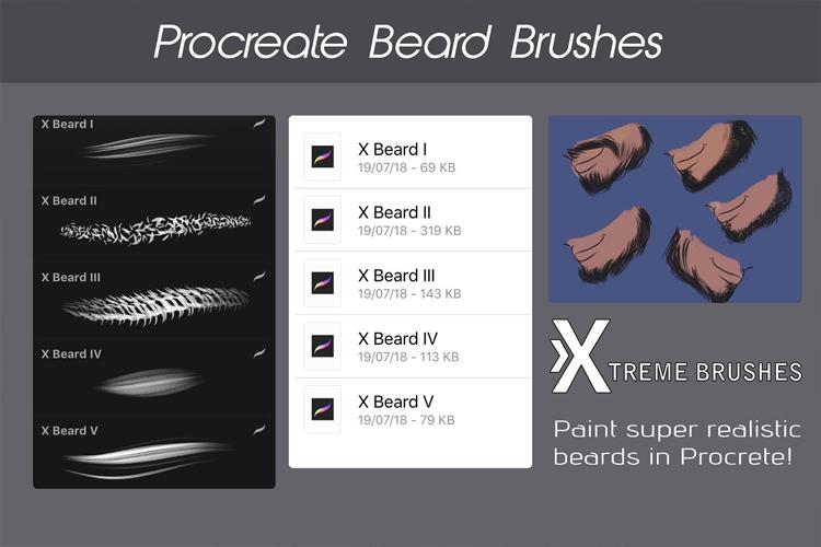 Procreate Beard Brushes example image 2