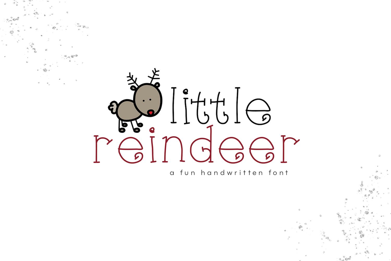 Little Reindeer - A Cute Handwritten Font example image 1