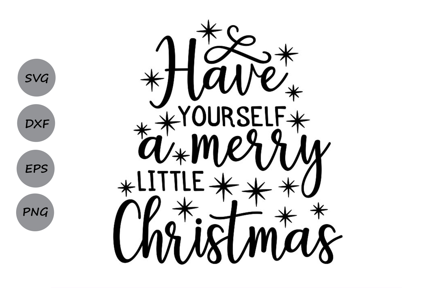 Have yourself A Merry Little Christmas Svg, Christmas Svg. example image 1